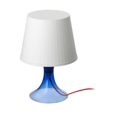 Ikea Lampan Lampu Meja - Biru