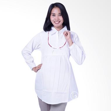 Mama Hamil BLJ 425 Muslim Gucci Baju Atasan Ibu Hamil - Putih