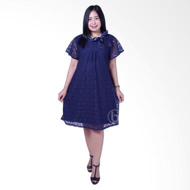 Mama Hamil DRO 787A Modis Brokat Sa ... y Baju Hamil Dress - Biru