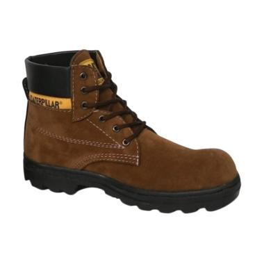 Caterpillar Safety Shoes Sepatu Hiking Pria - Brown