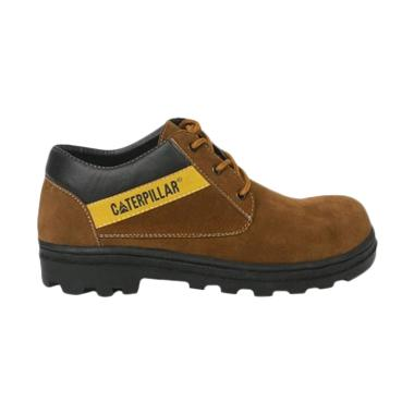 Caterpillar Safety Shoes Sepatu Hiking Pria - Coklat Muda