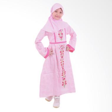 Jesca and Paul Zafira 222 Baju Muslim Anak - Pink