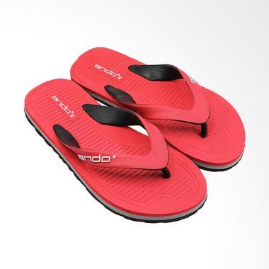 Ando Master 02 Sandal Jepit Casual Pria - Red Black