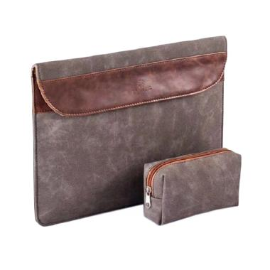 LAIWONG Leather Softcase Sleeve Cas ...  13 Inch - Blackish Brown