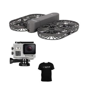 Promo Ramadhan - Brica INVRA 5 Hybr ... e Drone - Black + T-Shirt