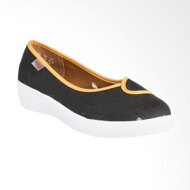 Wakai WAK-PLUSHW01815-2TONE Sepatu Wanita - Dark Grey Yellow White da1915b45e