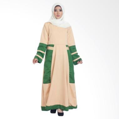 MIMUMOO Salama Gamis Kaftan Abaya D ... a Muslimah Syar'i - Cream