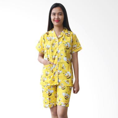 Aily ALY111 Motif Yellow Bee Setelan Baju Tidur Wanita