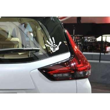 harga Tangan Punisher Skull Sticker Siluet Art Aksesoris Stiker Mobil Motor Honda Brio Isuzu Calya Agya Blibli.com