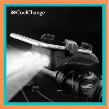 harga Unik CoolChange Lampu Sepeda Flashlight Phone Holder PowerBank 2000mAh Limited Blibli.com