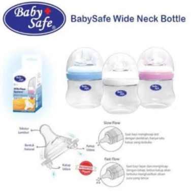 harga Promo Baby Safe WN001 Wide Neck Bottle 125 ml 4oz Botol Susu Anak Bayi baby Berkualitas Blibli.com