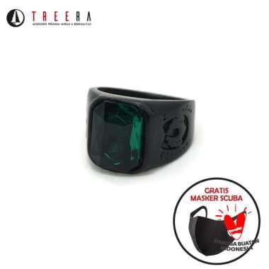 harga NECLORD cincin titanium batu hijau keren original premium anti karatan - Treera Size 10 Blibli.com