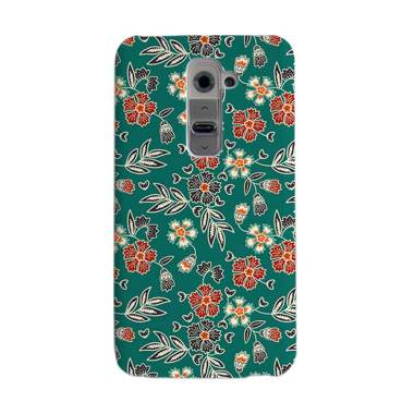 Premiumcaseid Cute Floral Batik Art Hardcase Casing for LG G2