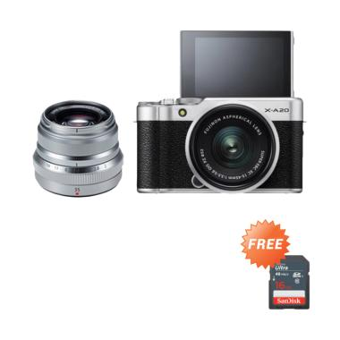 Fujifilm X-A20 / XA20 Kit 15-45mm + ... - Silver + Free SDHC 16GB