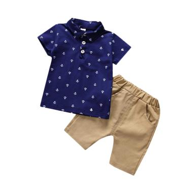 Saneoo Anchor Polo Shirt Set Baju Anak