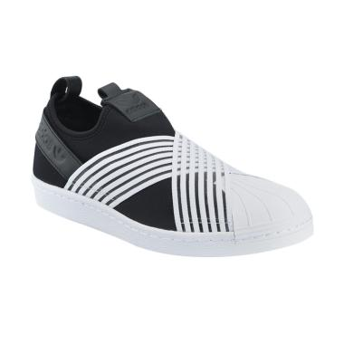 Jual Sepatu Adidas Hitam Putih Cewek Ori - Harga Promo  5f78f58245