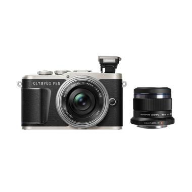 harga Olympus PEN E-PL9 Kit 14-42mm EZ Kamera Mirrorless - Black + 45mm f/1.8 Blibli.com