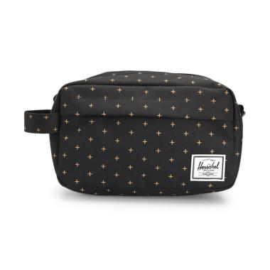 Herschel Chapter Carry On Pouch Pria - Black Gridlock Gold