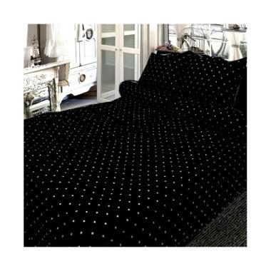 Berlian's AR048 Set Sprei - Black [Single Size/ 100 x 200 cm]