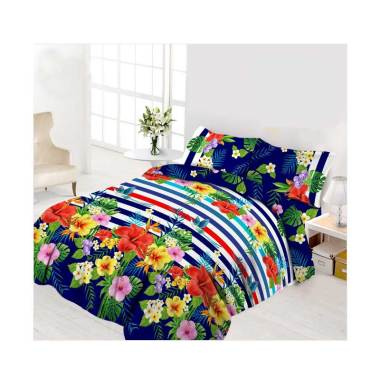 Vito Disperse Plat Hawaii Set Sprei [King Size/ 180 x 200 cm/ 4