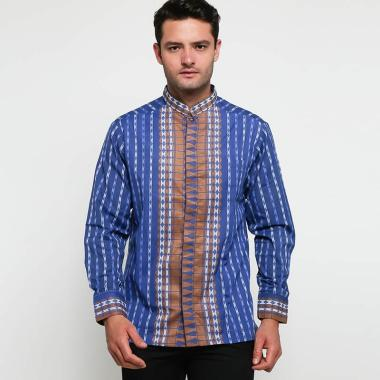 Batik Arjunaweda Tenun Songket 2 Baju Koko Pria - Biru [97075038]