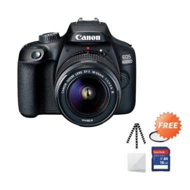 harga Canon EOS 4000D MARK III LENS 18-55 Kamera DSLR + Free Screenguard + SDHC 16GB + Gorillapod + UV Filter Blibli.com