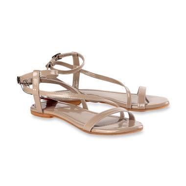 Kuzatura KKF 987 Sandal Flat Wanita - Coklat