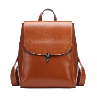 Qiangshili 0786 Fashion Leather Travel Backpack ... b092377b6f
