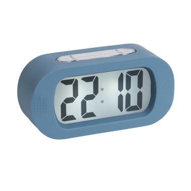 harga Karlsson Gummy rubberized Alarm Clock [14 x 7 x 5 cm] Blue Blibli.com
