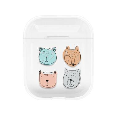 Bluelans Animal Clear Hard Protective Case Cover for AirPods