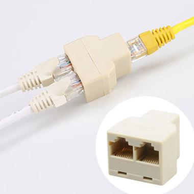 harga Bluelans 1 to 2 Way Dual Female Cat6/5/5e RJ45 Lan Ethernet Network Splitter Adapter Blibli.com