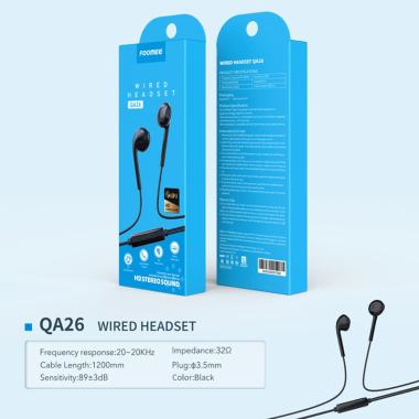 harga Foomee QA26 Wired Hifi HD Stereo Sound Headset - Hitam Blibli.com