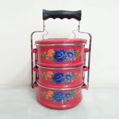 harga Maspion Panda Enamel Rantang - Merah [3 Susun/ 14 cm] Blibli.com