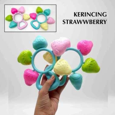 harga Amanah Toys Mainan Bayi Kerincingan Baby Rattle Strawberry Edukasi Toys Blibli.com