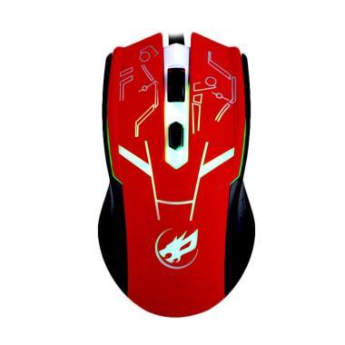 Warwolf M-540 Gaming Mouse - Merah