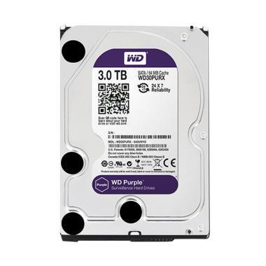 WD Purple Harddisk CCTV [3 TB/ 3.5 Inch/ SATA 3]
