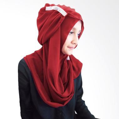 Milyarda Hijab Ring - Maroon