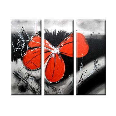 Lukisanku Bunga Merah S3322 Lukisan