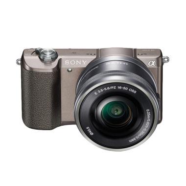 SONY ILCE A5100L Kit 16-50mm Kamera Mirrorless - Browne