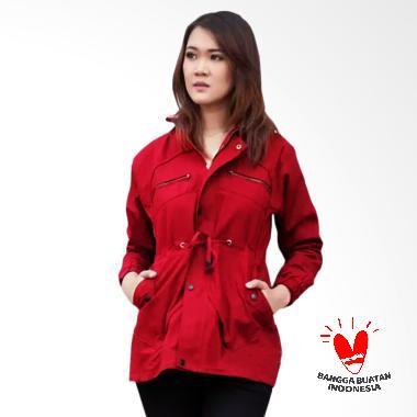 GDB Parka Premium Jaket Wanita - Maroon
