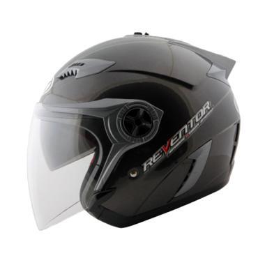 NHK Reventor Helm Half Face - Solid Black