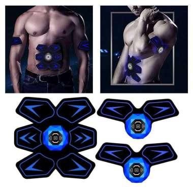 harga Abdominal Muscle Trainer Abs Ab Toner Slimming Stimulator Stimulating for Abdomen Home Office - Blue no voice Blibli.com