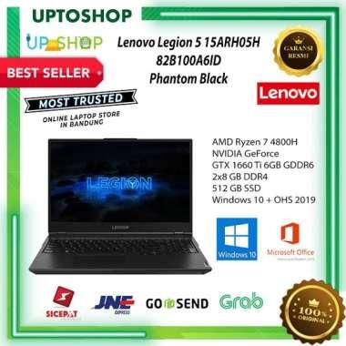 Lenovo Legion 5 15ARH05H - A6ID - Gaming Laptop - [AMD Ryzen 7 4800H / 2x8GB DDR4 / 512GB SSD / 15.6 Inch FHD / WIN 10 + OHS 2019] Phantom Black