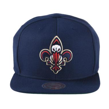 Mitchell n Ness NBA Wool Solid/Soli ... ans Snapback - Navy NT78Z