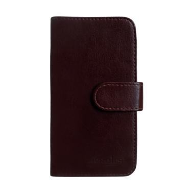 Acrolrs Book Cover Casing for Nokia 5 - Coklat