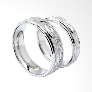 Cincin Couple Titanium Anti Karat CC020 (Female 7 & Male 10)