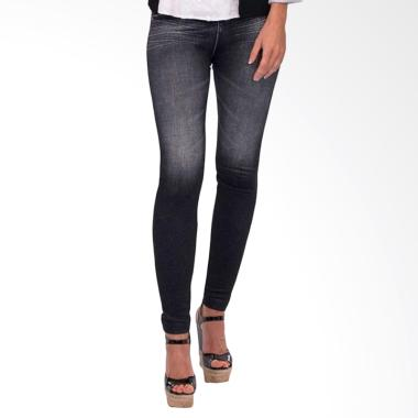 harga Celana Legging Wanita Motif Jeans [Celana Pelangsing] - Hitam Blibli.com