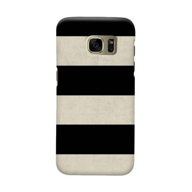 Indocustomcase Black Stripe 1 Cover Casing for Samsung Galaxy S6 Edge Plus