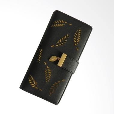 Aamour Leaf Wallet Dompet Wanita - Black