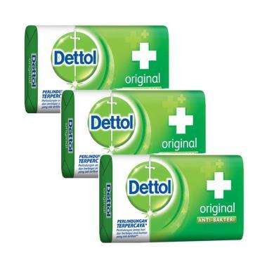 Dettol Original Anti Bakteri Sabun Mandi [105 g/3 pcs]